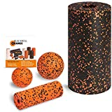 Blackroll Orange (Das Original) Starter Set mit 2x Faszien-Rolle & 2x Massageball, inkl. Booklet