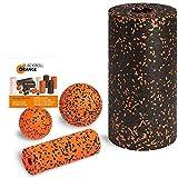 Blackroll Orange (Das Original) Starter Set mit 2x Faszien-Rolle & 2x Massageball, inkl. Booklet