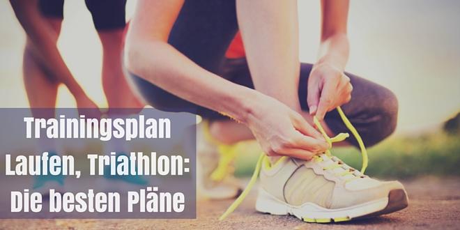 Trainingsplan für Lauftraining, Triathlon und Fitness