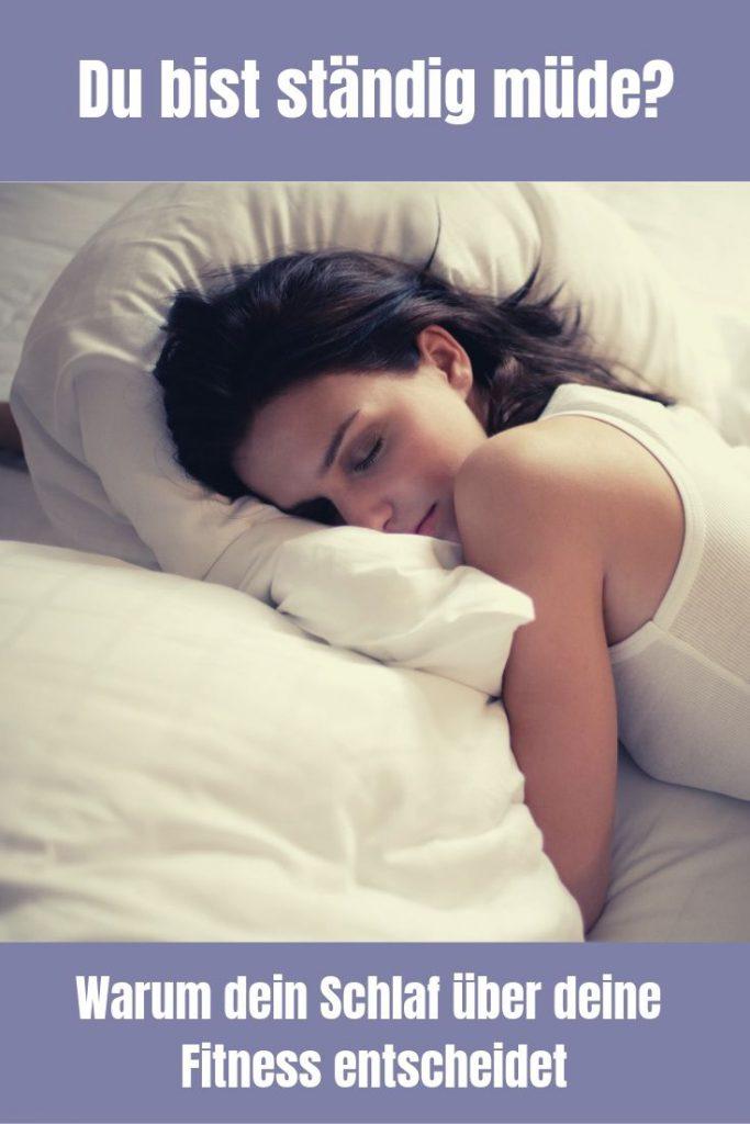 Bist du ständig müde? Ein erholsamer Schlaf ist besonders für Sportler sehr wichtig. Ohne Schlaf keine Regeneration und damit keine Leistung.