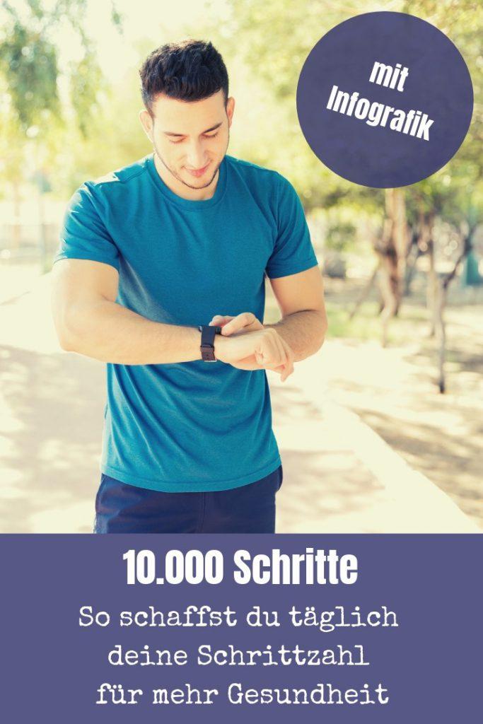 Wir Menschen bewegen uns zu wenig. Julia Frank erklärt in ihrem Gastartikel anhand einer tollen Infografik, wie auch du täglich 10000 Schritte schaffst.