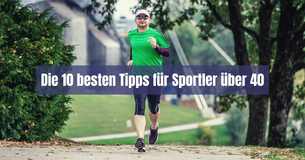Mit 40 treibt nur noch jeder zehnte Deutsche Sport! Damit dir das nicht so geht, gibt es hier die 10 besten Tipps für Sport ab 40.
