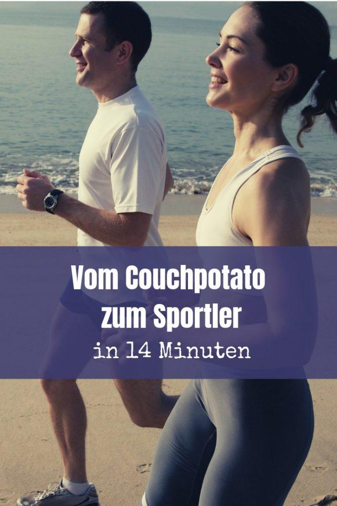 Warum zum Henker kann man in 14 Minuten vom Couchpotato zum Sportler werden, fragst du dich sicherlich?! Lies den Artikel zum Thema: Sport Motivation