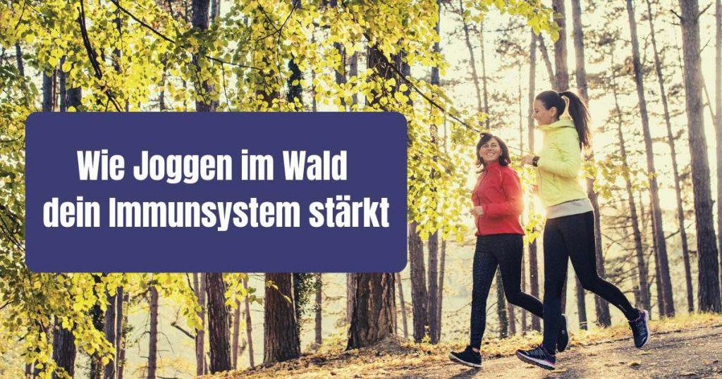 Joggen im Wald ist gesund. Aber warum eigentlich? Wie du mit einer Laufrunde im Wald dein Immunsystem stärken kannst, erfährst du in diesem Artikel.