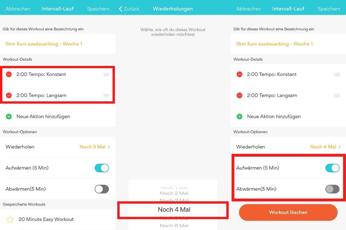 Runkeeper - Intervalle in die kostenlose Lauf-App eingeben